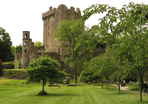 A View of Blarney Castle through the Trees