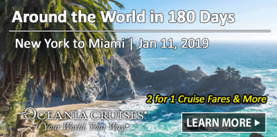 Oceania 2019 World Cruise