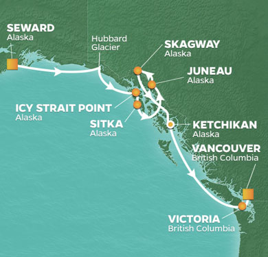 Map-Alaska-Escorted-cruise