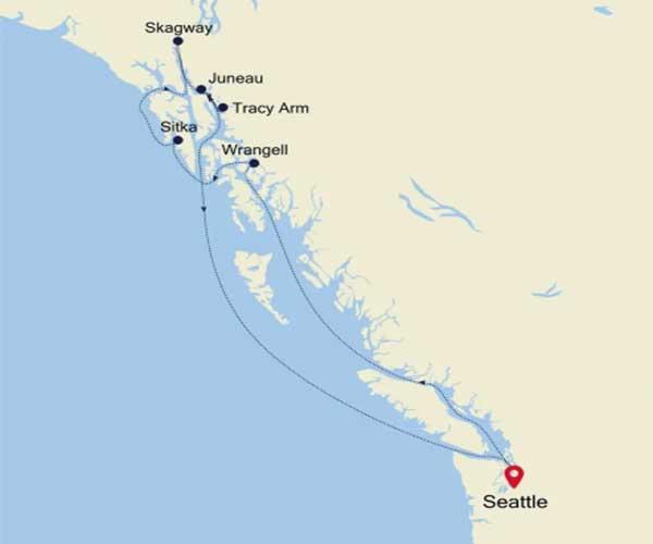 Cruise Alaska Map